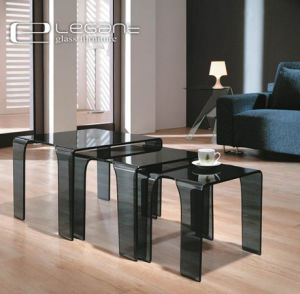 Buy Grey Glass Coffee Nest Table of Modern Style on Line pictures & photos