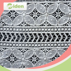 Most Popular Water Soluble French Chemical Embroidery Lace Fabric pictures & photos