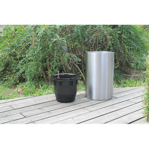 Stainless Steel Self-Watering Flower Pot (FO-9065) pictures & photos