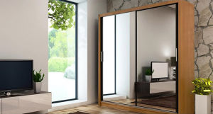 New Wooden Bedroom Mirrored Wardrobe Closet (HF-EY0312) pictures & photos