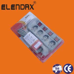 European Style 4 Way Individual Switch Extension Power Strip (E6004EIS) pictures & photos