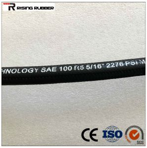 Braid Textile Covered Hydraulic Hose SAE R5 pictures & photos