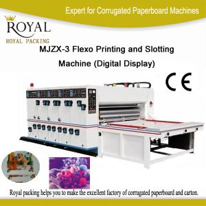 Mjzx-3 Flexo Printing and Slotting Machine (Digital Display) pictures & photos