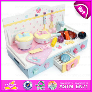 2015 Kids Wooden Mini Kitchen Set Toy, Interesting Wooden Toy Mini Kitchen Toy, Small Wooden Mini Children Kitchen Set Toy (W10C145) pictures & photos