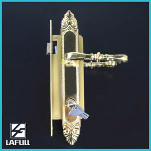740 Zinc Alloy Handle Iron Key Door Lock pictures & photos