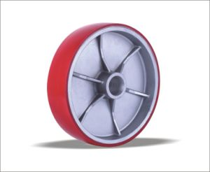 Aluminum Iron Core Long-Lived PU Foam Wheel pictures & photos