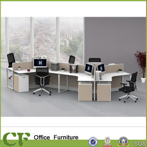 Full Fabric 6 Seats Round Office Partition Design pictures & photos