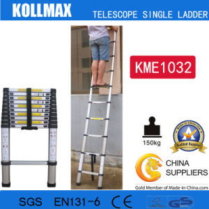 Magic Aluminum Telescopic Single Ladder with En131 CE GS Kme1032 pictures & photos