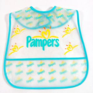Geometrical Figure PEVA Printed Waterproof Baby Bib (MECO277) pictures & photos
