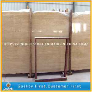 Polished Roman Beige/Cream Marble Travertine Slabs pictures & photos
