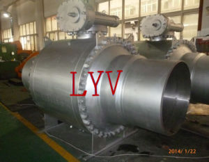 Full Welded Flanged Trunion Control Valve Ball Valve