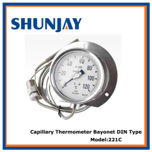 Capillary Thermometer Bayonet DIN Type pictures & photos