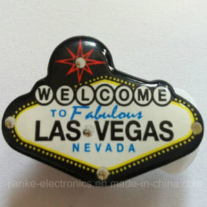 LED Flashing Las Vegas Button Pin with Logo Printed (3569) pictures & photos