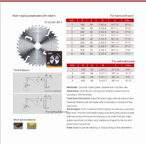 Tct Carbide Multi Ripping Saw Blades pictures & photos