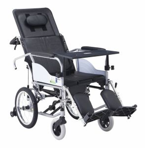 "Wholly Reclined with 16"" Rear Wheel Steel Wheelchair"