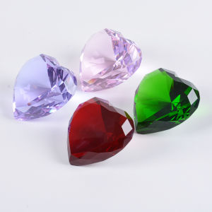 Heart Diamond Glass Crystal for Fashion Jewelry Paperweight pictures & photos