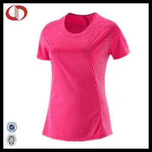 Wholesale Ladies Polyester Running Jersey Shirt Top pictures & photos