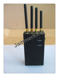Handheld 4 Bands GSM/CDMA, 3G Cell Phone, WiFi, GPS Signal Jammer pictures & photos