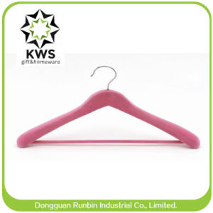 Special Wooden Clothes Hanger with Antislip Bar for Suit Coat Displayed (RB-WR824)
