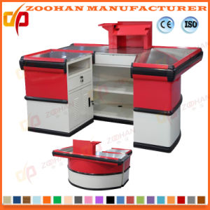 Supermarket Shop Metal Checkout Counter Cash Table (ZHc62) pictures & photos
