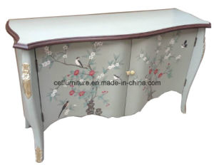 Chinese Hand Painted Antique Lacquer Furniture Oriental Cabinet