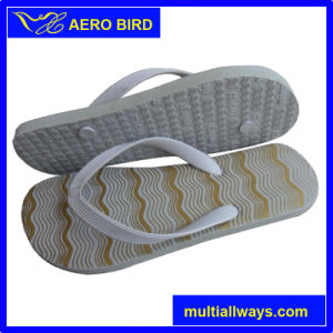 Simple Wave Print Design Men Sandal PE Footwear pictures & photos