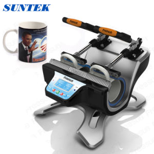 Mini Double-Station Mug Heat Press Machine with CE Certificate (ST-210) pictures & photos