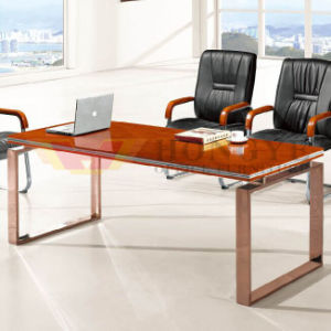 Modern Wooden Veneer Conference Metal Modular Meeting Table (HY-A218) pictures & photos