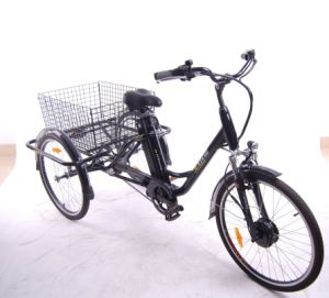Light Aluminum Alloy Frame Electric Cargo Tricycle pictures & photos