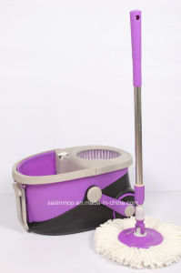 Hand Press Spin Mop with Wheel Bucket (SL-S026)