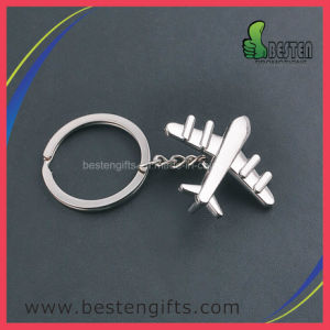 Custom Aircraft Plane Fighter Shape Siliver Color Key Chain