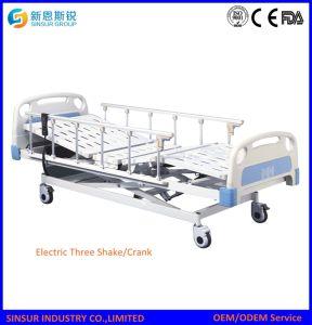 Aluminum-Alloy Guardrail 3-Crank Electric Medical Instrument Hospital Bed pictures & photos
