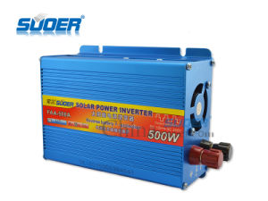 Suoer Power Inverter 500W Solar Power Inverter 12V to 220V Factory Price Inverter with CE&RoHS (FAA-500A) pictures & photos