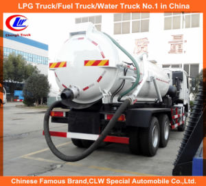 12cbm Sinotruck Sewage Suction Truck for 12000liters Vacuum Tanker Truck pictures & photos
