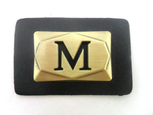 Custom Metal Leather Badges Patches pictures & photos