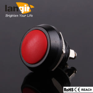 12mm Push Button Switch V12 Zn-Al. Alloy with Blue Actuator pictures & photos