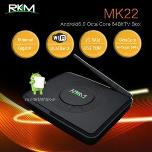 Amlogic S912 Octa Core 64bit 4k Smart Mini TV Box (MK22) pictures & photos