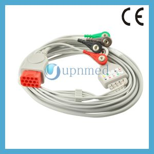 Bionet Bm3/Bm5 5 Leads ECG Cable with Leadwires, Snap, Aha pictures & photos