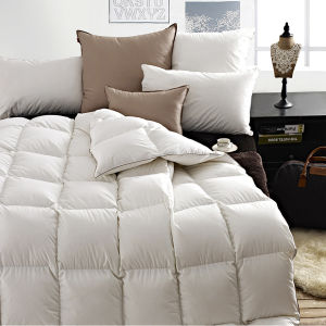 100% Goose Down Filling Cotton Cover Quilt for 5 Starts Hotel pictures & photos