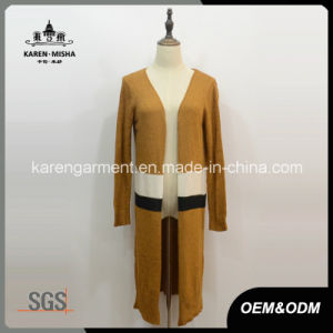 Women Striped Knitted Long Line Cardigan Duster Coat pictures & photos