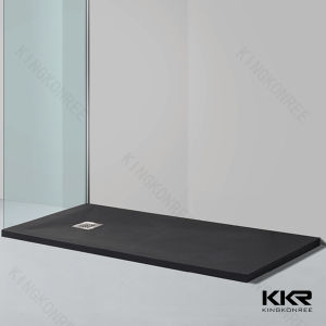 Matte Black Stone Bathroom Shower Tray pictures & photos