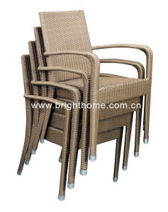 Stackable Chair Wicker Chair Outdoor Dining Chair pictures & photos