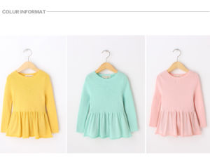 Spring/Autumn Knitting/Knitted Kids Clothes for Girls pictures & photos