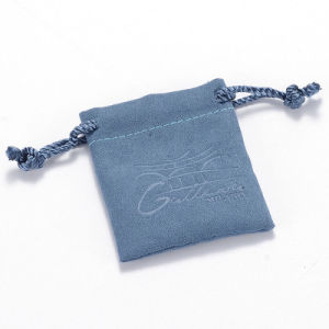 Ice Blue Drawstring Jewelry Pouch pictures & photos