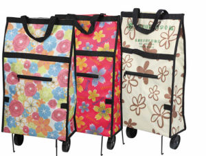 2015 Folding Shopping Bag with Wheels pictures & photos