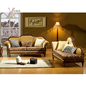 Antique Fabric Sofa with Carved Pattern (NCS31) pictures & photos