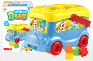 Plastic Educational Toy Block Bus (H4646040) pictures & photos