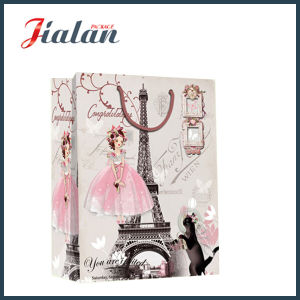 Custom Paper Printed Effiel Tower Design Shopping Carrier Gift Bag pictures & photos