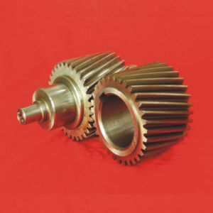 CNC High Precision Alloy Cylindrical Bevel Pinion Helical Gear pictures & photos