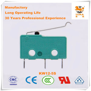 Lema 5A Green Straight PCB Quick Connect Terminal Kw12-5s Micro Switch pictures & photos
